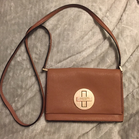 novel style special for shoe customers first Small Kate Spade tan leather crossbody purse